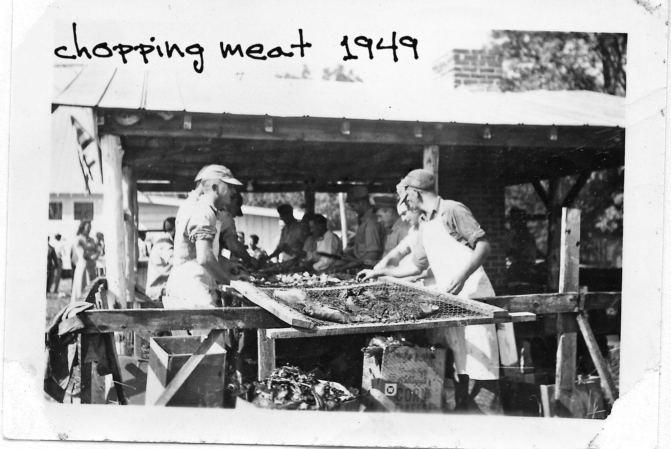 chopping meat 1949